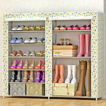 6 Layer Portable Non-woven Fabrics Large Shoe Rack Organizer for Home Bedroom Furniture полка для обуви Shoe Cabinet органайзер для обуви shoe organizer