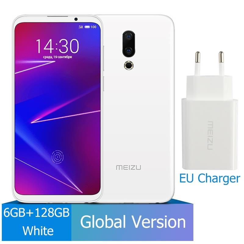 Meizu 16, 6 ГБ, 64 ГБ, глобальная версия, Смартфон Snapdragon 710, четыре ядра, мобильный телефон на фронтальной панели 20 МП, 3100 мАч, встроенный экран, отпечаток пальца - Цвет: 128G White