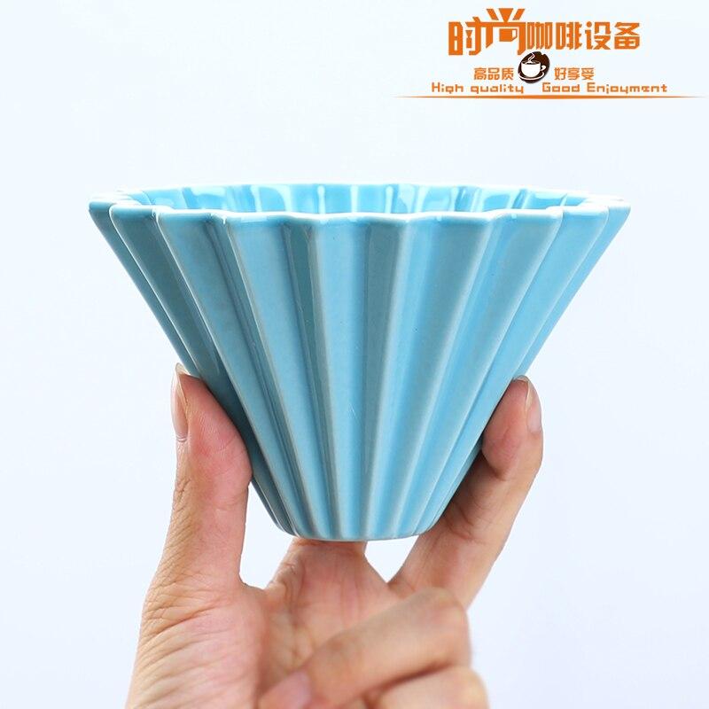 Nouveau café en céramique filtre tasse Origami goutteur verser sur le café filtre cup1-2cups