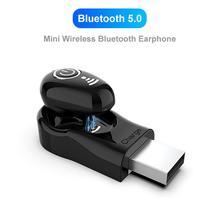 S650 1Pc Mini Wireless Bluetooth 5.0 Waterproof Earphone In-Ear Stereo Music Sports Earbuds