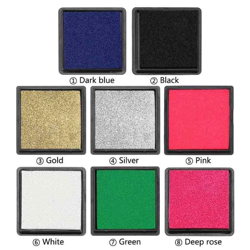 1 pc 4cm tampon encreur pour Scrapbooking coloré encreur cachetage décoration empreinte digitale pochoir carte faisant bricolage timbre artisanat
