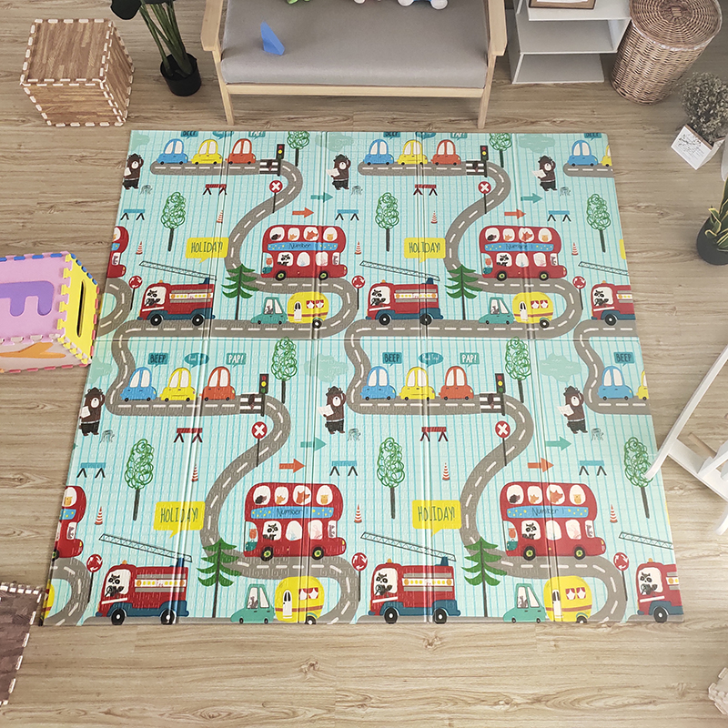H56d8f89b6d4d4f4e84c6e540e756e6593 Thick Educational Children's Mat XPE Foldable Baby Mat Developing Kids Rug Road Game Playmat Soft Floor