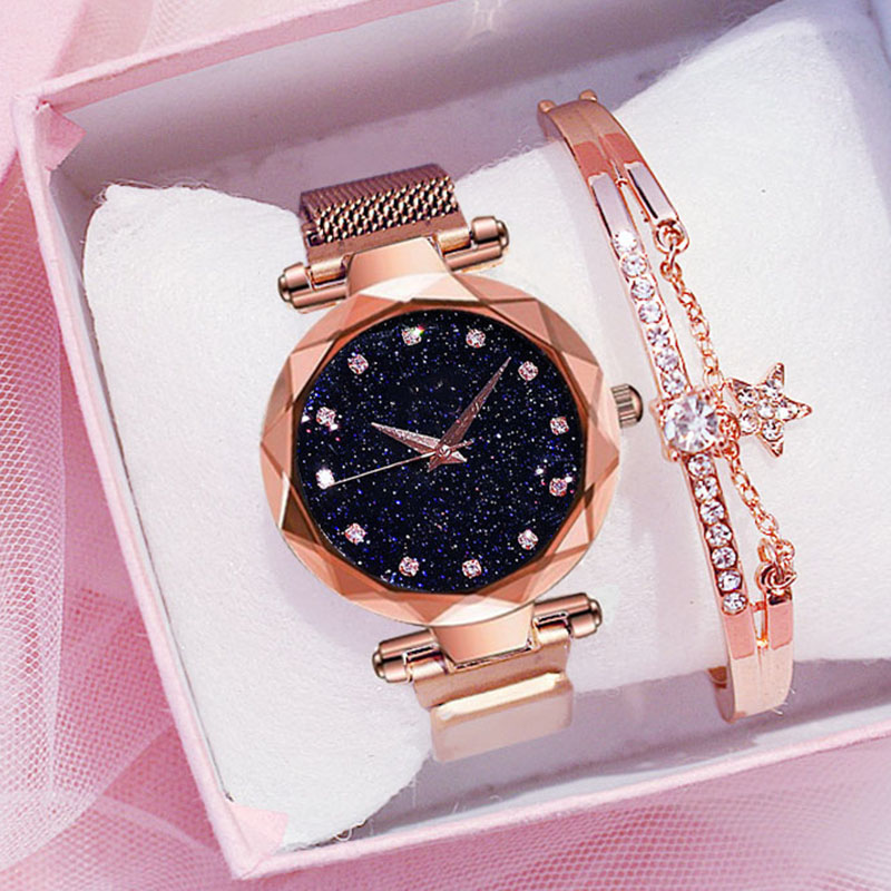 2019 Luxury Diamond Women Watches For Ladies Magnetic Starry Sky Clock Female Quartz Wrist Watch Relogio Feminino Zegarek Damski