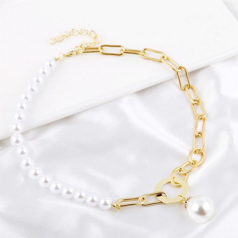 New Fashion Women's Necklace Chain Baroque Pearl Necklace Women's Jewelry Gift