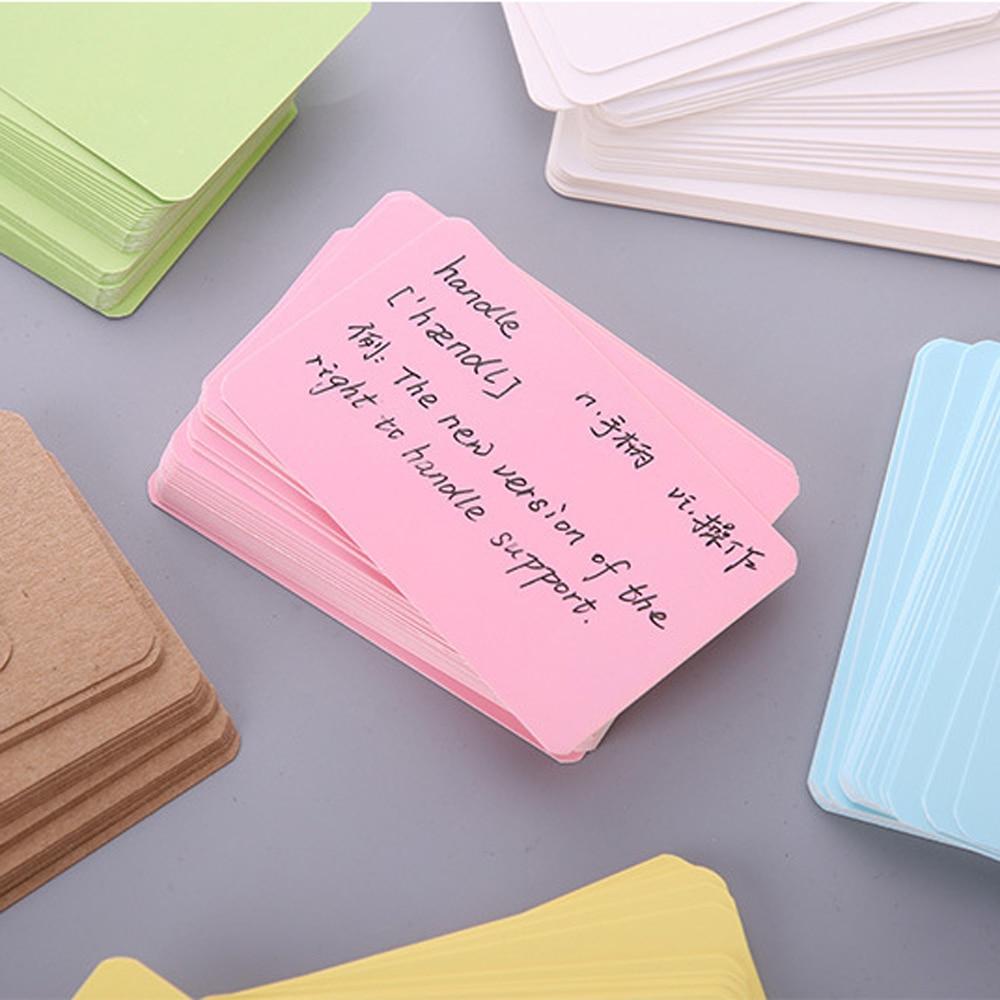 100 pièces Portable carte de visite vierge Message Note Message cartes Kraft papier boîte signet apprentissage Notes bureau fournitures scolaires