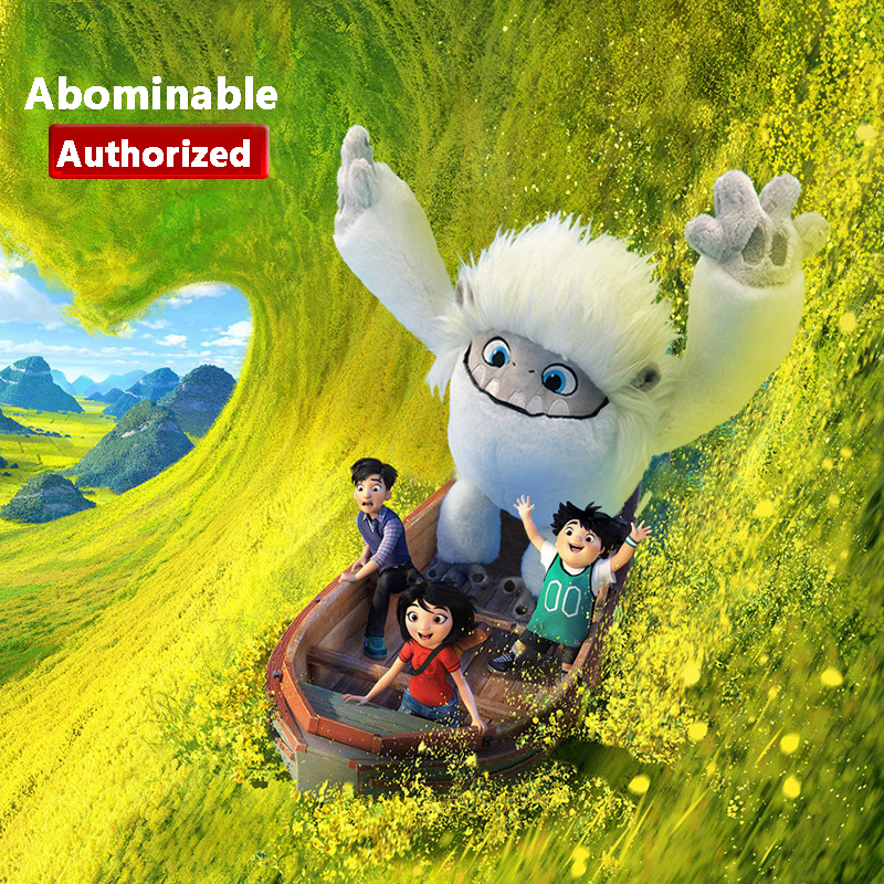 Authorized Movice Abominable Plush Toys Stuffed Snowman Dolls Cartoon Figure Soft Peluches Toys For Girls Boys Gift