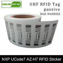 Rfid наклейка uhf nxp ucode7 фотоинкрустация 915 МГц 900 868