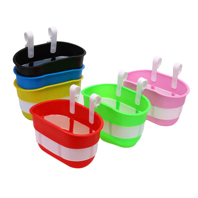 Bicycle Basket Children Bike Plastic Hanging Front Handlebar Carrier SaddlebagSC