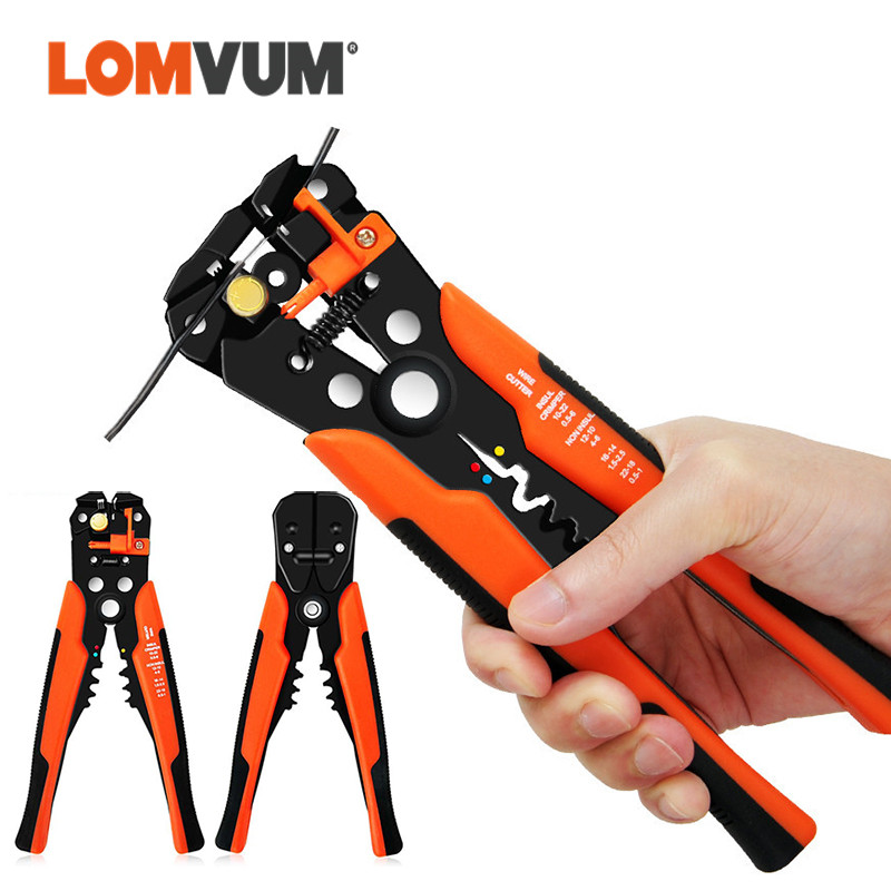 LOMVUM Wire Stripper Cripping Tool Pliers Cable Cutter Multi-function Crimping Pliers Terminal Atomatic Peeling Pliers Hand Toos