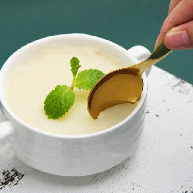 Cuillères à manche court cuillères | Ustensiles de table en acier inoxydable 304 Mini cuillères à sel, cuillère à Condiments, cuillère à Dessert, cuillères à thé et à café