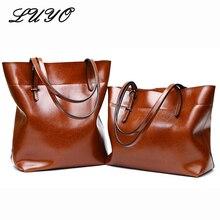 Vintage Handbag Real Cowhide Genuine Leather Bucket Luxury Ladies Handbags Women Bags Designer Shoulder Woman Bag Female Bolsas