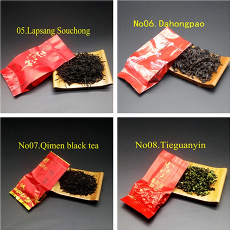 16 Different Flavors Chinese Tea Includes Milk Oolong Pu-erh Herbal Flower Black Green Tea Each tea Two Bags 3