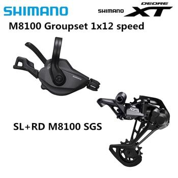 SHIMANO DEORE XT M8100 Groupset Mountain Bike Groupset 1x12 Speed SL + RD original M8100 Rear Derailleur I-SPEC EV Shifter Lever