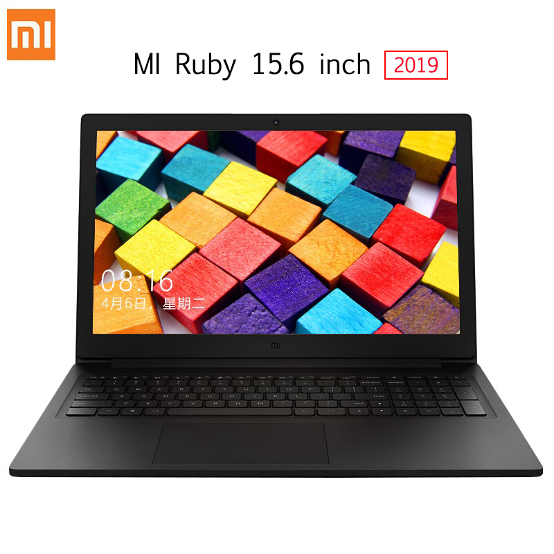 Original Xiaomi Mi Ruby 15.6 Inch Laptop Windows 10 Intel Core I5-8250U Quad Core 8GB RAM 512GB SSD Notebook Fingerprint