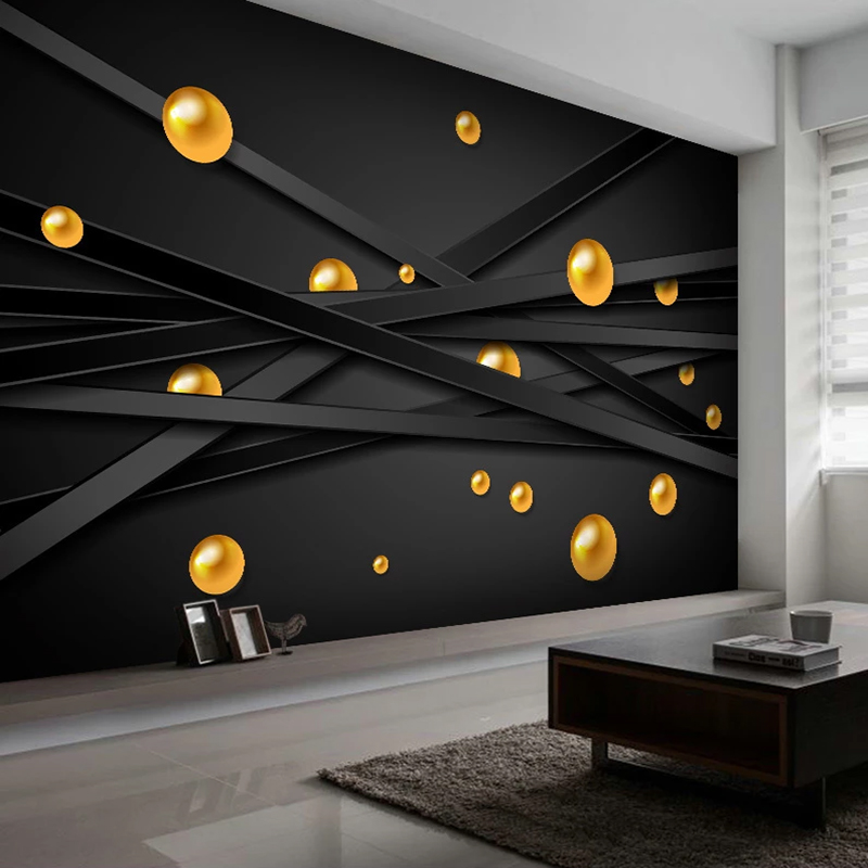 Modern Geometric Solid Circles Photo Mural Wallpaper Restaurant Cafe Boy Bedroom Background 3D Wall Cloth Decor Poster Sticker