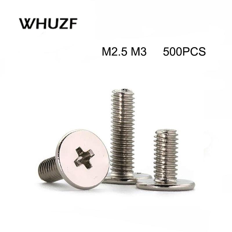 500 шт см M2 M2.5 M3 M4 никелированная сталь крест Phillips ультра тонкий супер низкий плоский болт с головкой для ноутбука компьютера Винты      АлиЭкспресс