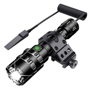 Image 5 - LED 손전등 전문 전술 손전등 토치 사냥 밤 스카우트 세트 L2 물고기 빛 USB 충전식 방수