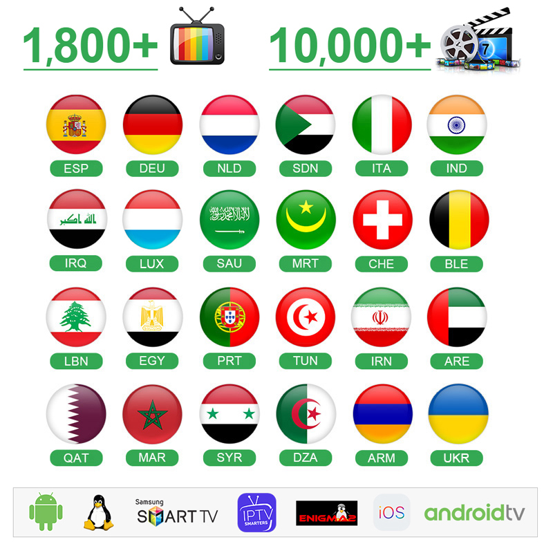 IPTV Spain Germany Arabic IPTV M3U Portugal 1 Year Smart IPTV Netherlands <font><b>Belgium</b></font> Turkey Algeria 4k Morocco IP TV NO APP include image