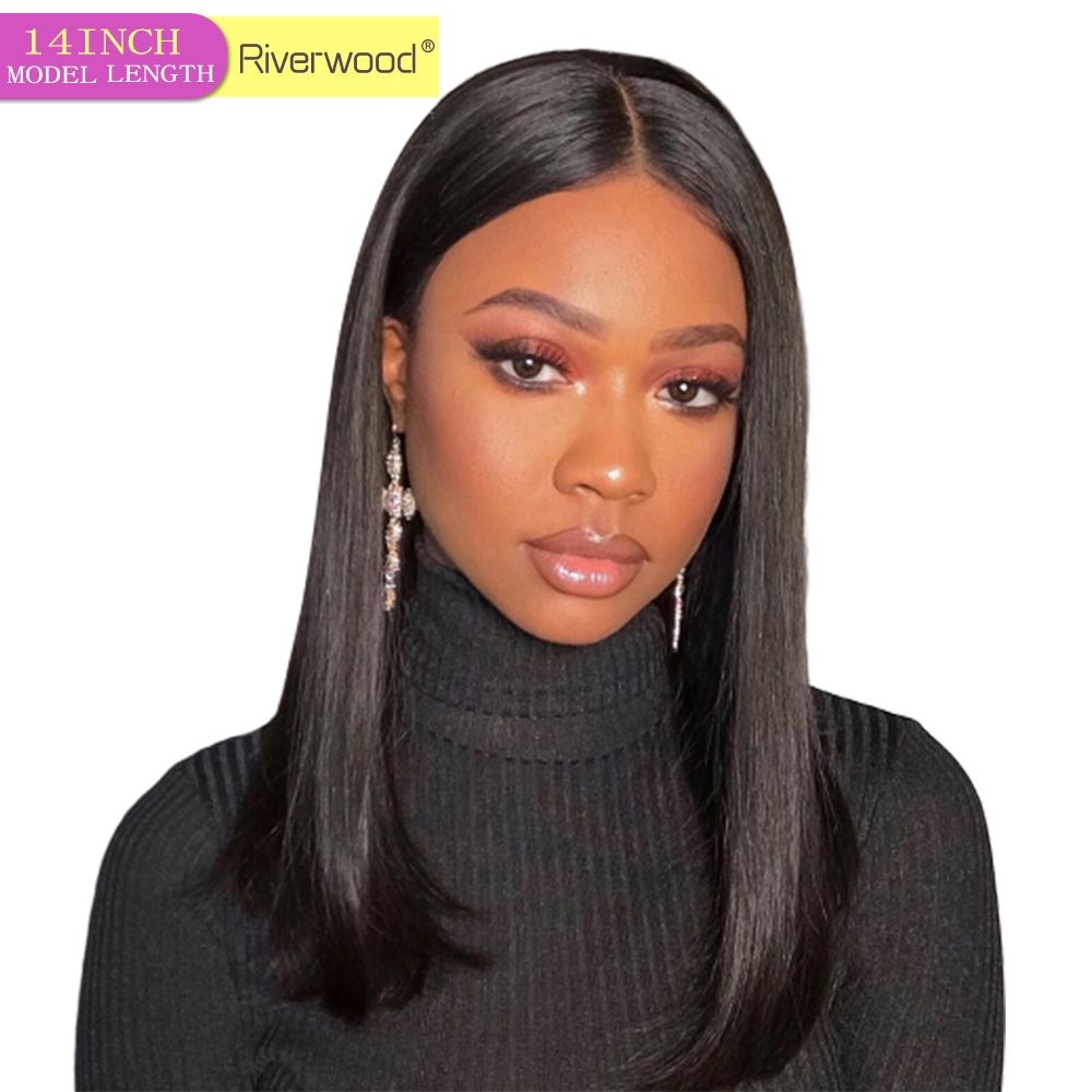 Bob Wig Lace Front Human Hair Wigs Brazilian Short Straight Hair 130% Density Pre Plucked Bob Lace Front Remy Human Hair Bob Wig