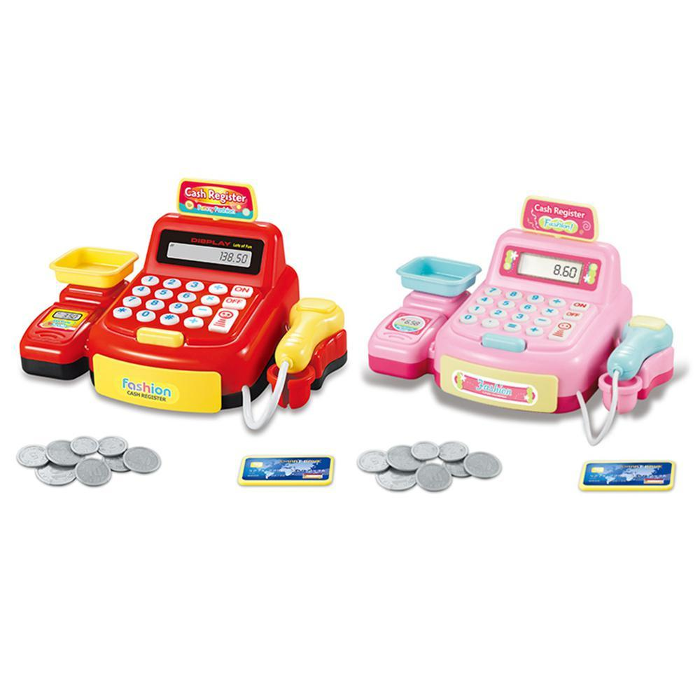 Supermarket Shop Checkout Toy,Kids Toy Supermarket Cash Register with Real Calculator,Checkout Scanner,Play Money,Education