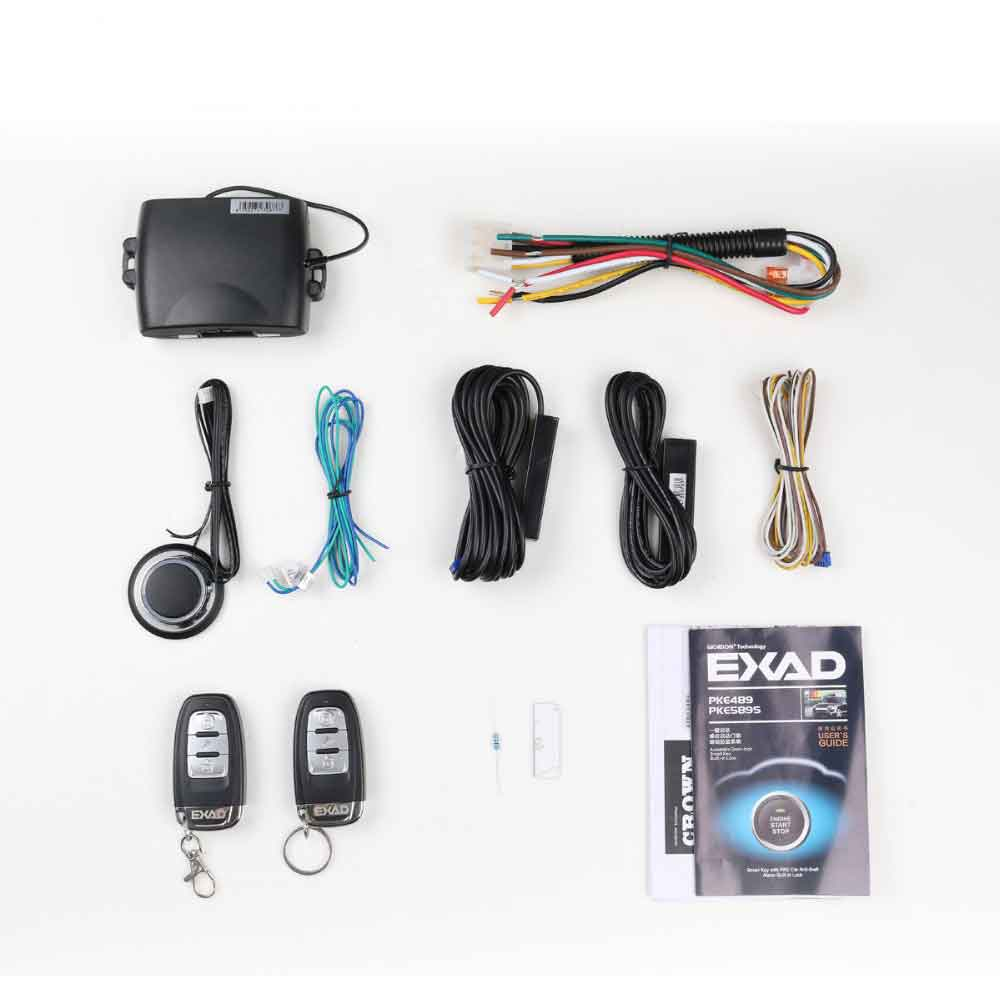 Car Alarm With Auto Start Keyless Entry System Car Security  Central Locking With Remote Start And Alarm Start Stop Signaling