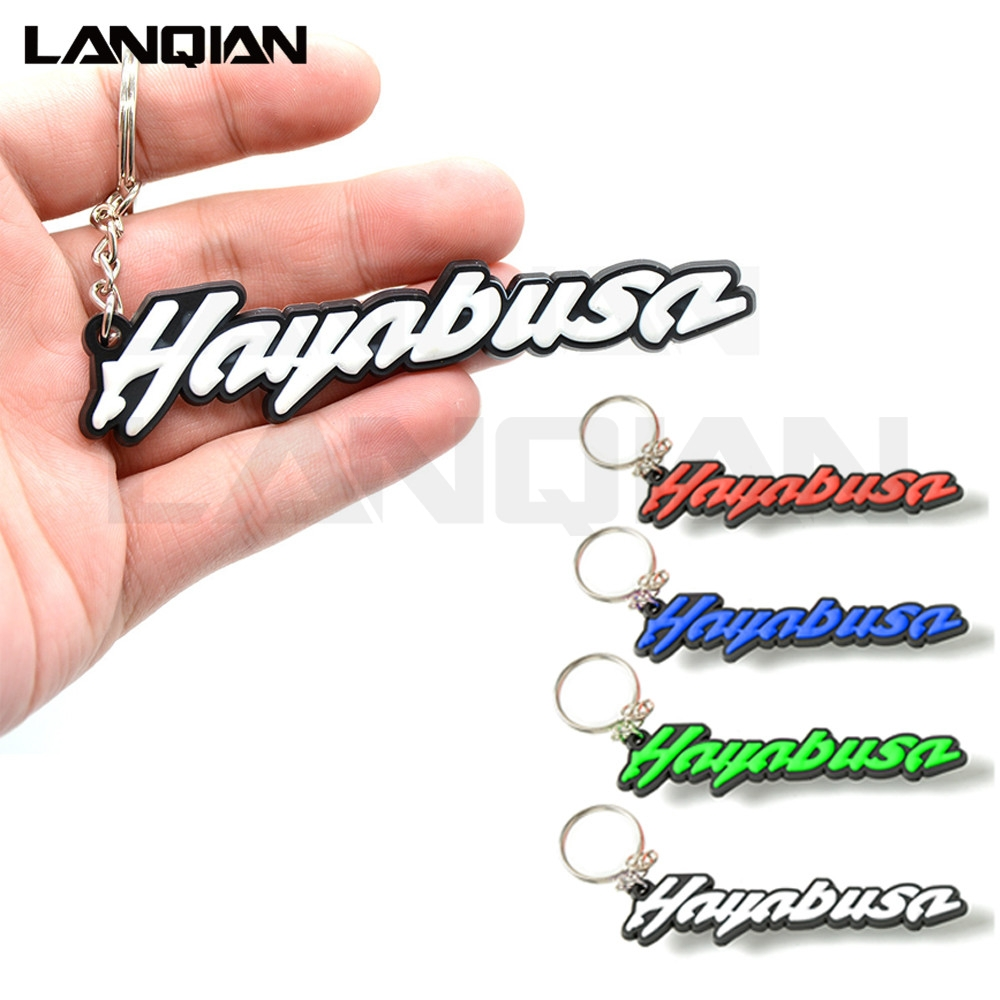 4 Colors Optional Motorbike Accessories 3D Soft Rubber Motorcycle Key Ring Blue Motorbike Keychain For All Suzuki Hayabusa Model