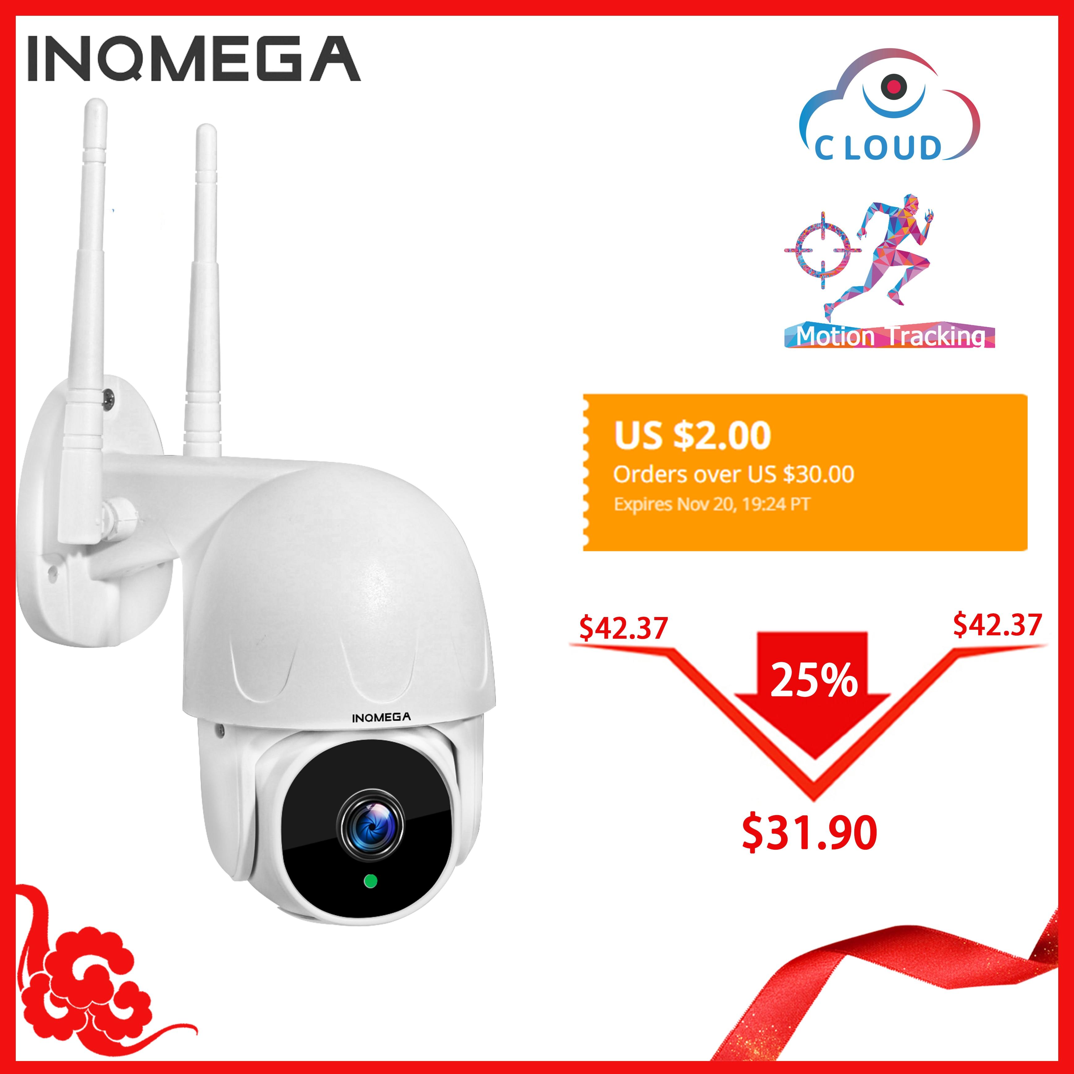 INQMEGA Cloud 1080P PTZ vitesse dôme Wifi caméra extérieure 2MP Auto-suivi caméra ONVIF caméra sans fil Surveillance à domicile IP Cam
