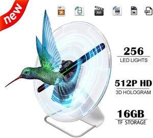 30CM 3D hologram fan Advertising Projector light display holographic Battery powered rechargeable Desktop LED fan