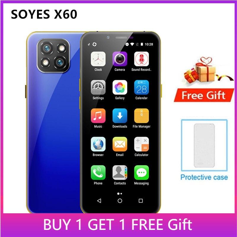 SOYES X60 мини смартфон Поддержка Google Play, 3 Гб оперативной памяти, 32 Гб встроенной памяти, 3,5