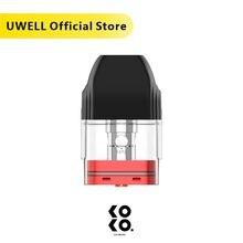 UWELL Caliburn KOKO Pod 4 개/갑 1.2 ohm 2 ml 용량 Caliburn 및 caliburn에 적합 KOKO Pod 시스템 키트 기화기