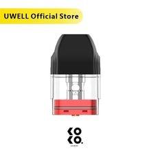 UWELL Caliburn KOKO Pod 4 Pcs/Pack 1.2 ohm 2 ml Capacity Suitable for Caliburn and Caliburn KOKO Pod System Kit Vaporizer
