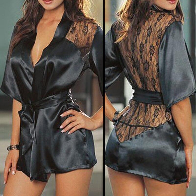 Женское сексуальное нижнее белье Babydoll, кружевной халат с открытой спиной, ночная рубашка, ночная рубашка, одежда для сна, одежда для сна на о...