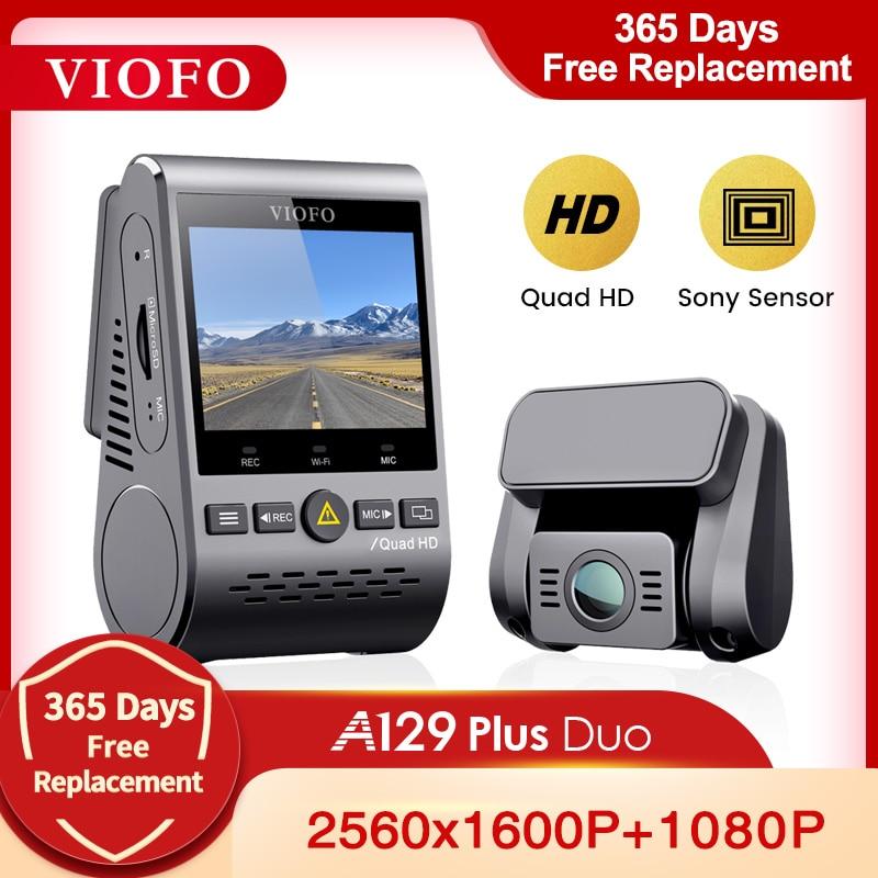 VIOFO A129 Plus Duo Автомобильный видеорегистратор с камерой заднего вида Автомобильный видеорегистратор Quad HD ночное видение Sony сенсор Dashcam с GPS