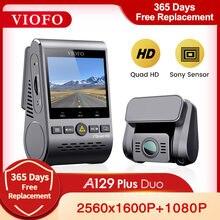 VIOFO A129 Plus Duo samochód DVR Dash Cam z widokiem z tyłu kamera samochodowa rejestrator wideo Quad HD noktowizor Sony czujnik Dashcam z GPS