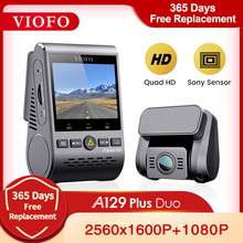 VIOFO A129 Plus Duo Car DVR Dash Cam with Rear View Camera Car Video Recorder Quad HD Night Vision Sony Sensor Dashcam with GPS