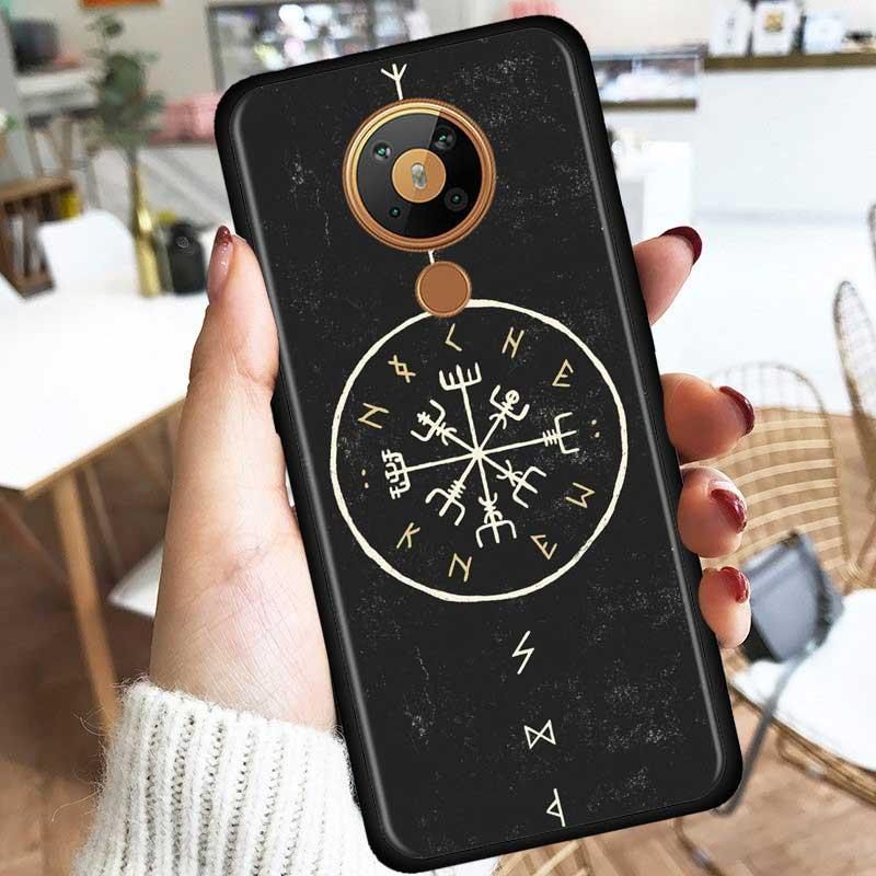 Viking Vegvisir Odin Nordic Silicone Case For Nokia 2.2 2.3 3.2 4.2 7.2 1.3 5.3 8.3 2.4 3.4 C3 C2 1.4 5.4 Cover Coque Fundas