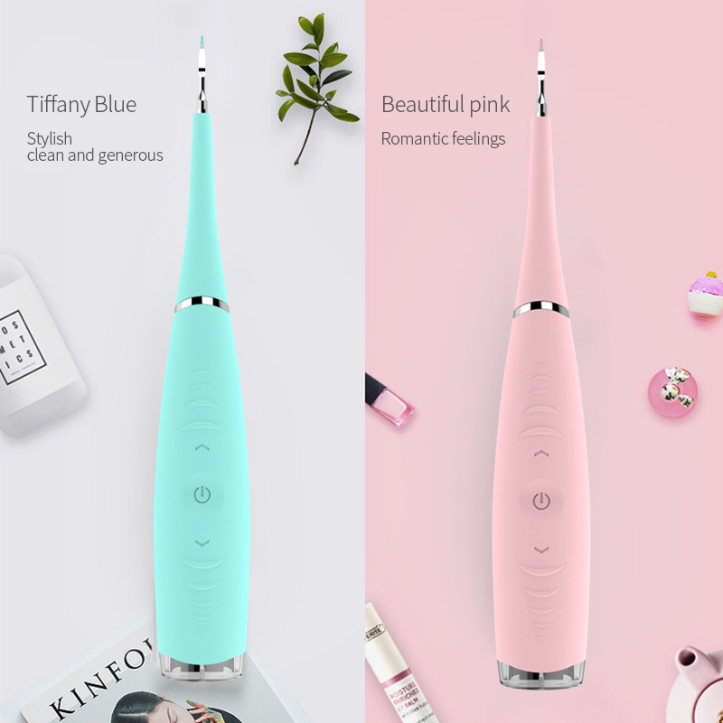 Ultrasonic Teeth Whitening Cleaning Device Rechargeable Dental Flosser Waterproof Electric Tooth Cleaner Calculus Remover