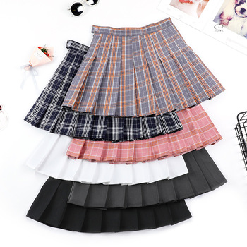 Summer High Waist Pleated Mini Skirt Pink Satin Womens Fashion Slim Casual Tennis Skirts school Vacation