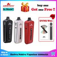 Compra uno y obtén uno gratis Airistech-Kit de vaporizador Herbva Nokiva, vaporizador de hierba seca de 2200mAh, Kit de pluma de vapeo con Airis N1, cera de aceite de iniciación