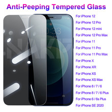 999D Anti Spy Tempered Glass For iPhone 12 mini 11 Pro XS Max X XR Privacy Screen Protector iPhone 7 8 6 6S Plus 5 5S SE Glass