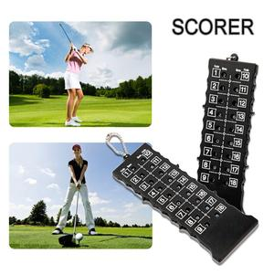 New 18 Holes Golf Stroke Counters Outdoor Golf Stroke Putt Score Card Score Counter With Key Chain Black