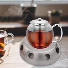 Нагреватель для чайника для кофейной свечи, офисный держатель из нержавеющей стали, серебряная нагревательная база, круглая плита, практичные аксессуары для дома, съемный