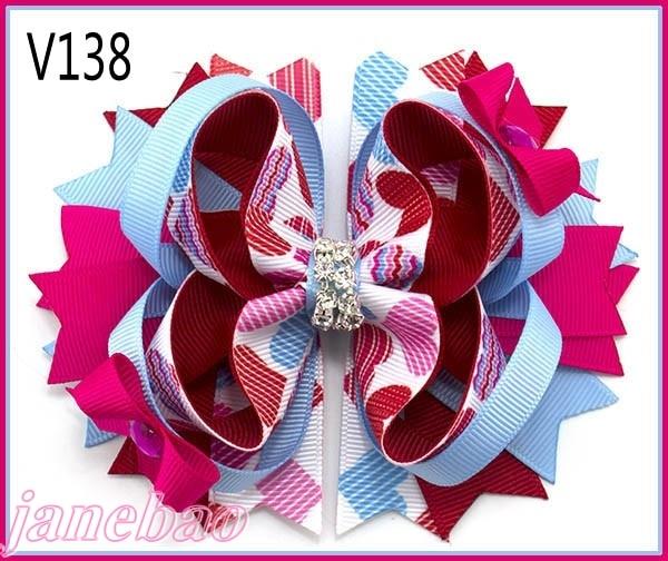 30 шт День святого Валентина посыпает бант волосы популярный веселый бантик праздничные заколки для волос подарок на день Святого Валентина- B