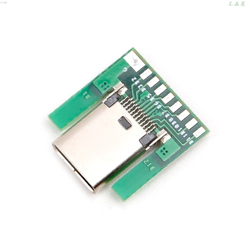 USB 3.1 Type C Female Socket Connector Plug SMT Type With PC Board DIY 24pin L29K