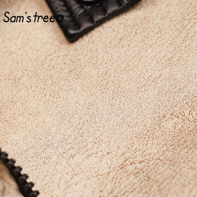 Sam's Albero Solido Nero Teddy Pigro Calore Lana D'agnello Delle Donne Cappotto 2020 di Inverno Bianco Puro Cammello Cerniera Oversive Outwears Femminili - 5
