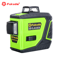 Fukuda rotary laser level 360 12 lines 3D green beam laser leveler Self Leveling Horizontal Vertical Cross laser line MW 93T new