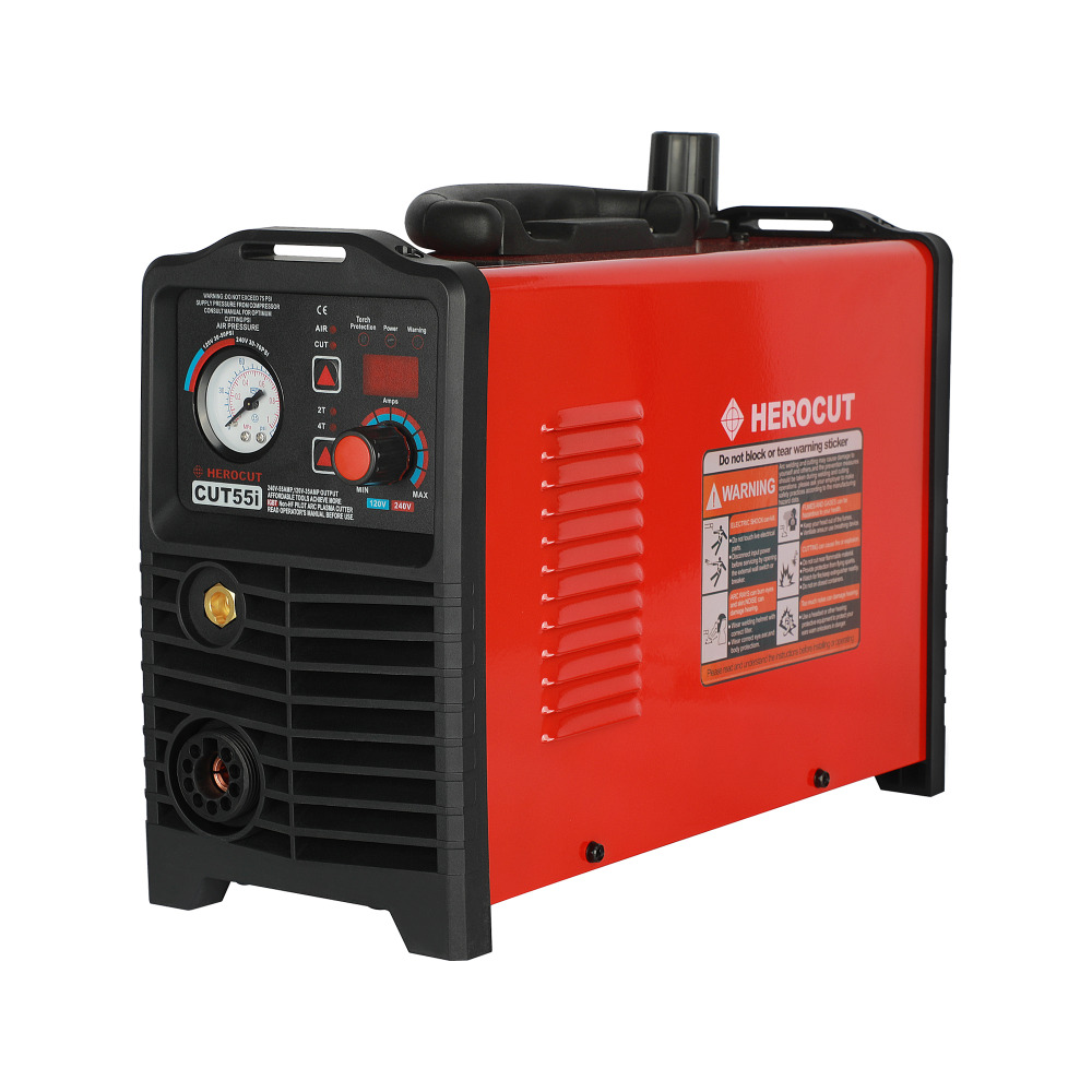 IGBT Non-HF Pilot Arc CUT55i Digital Control CNC Plasma Cutter Dual Voltage 120/240V, IPTM80 CNC Straight Torch
