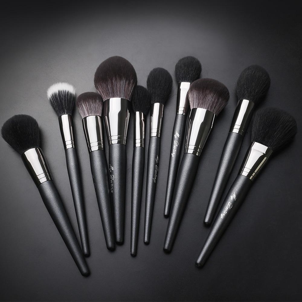 Pincel de maquiagem mydestiny-a série clássica-pó e fundação & blush & eyeshadow & sobrancelha & blending & bronzing escovas-ferramenta cosmética