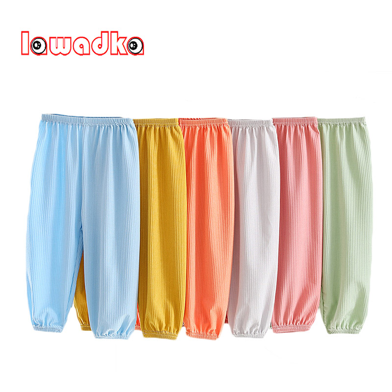 Lawadka Summer Thin Baby Girls Boys Pants Casual Solid Kids Boy Girl Trousers Loose Children's Clothing From 1 to 6 Years Old