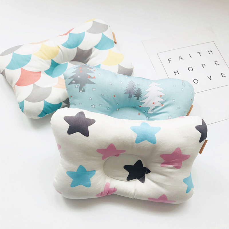 Baby Positioner Nursing Newborn Baby  Breathable Head Pillow Infant Posing Correct Cotton Pillow Printing Breathable YCZ003